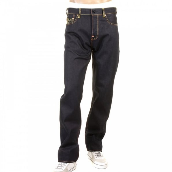 RMC JEANS Genuine Super Exclusive Japanese Garden Slimmer Cut Dark Indigo Denim Jeans