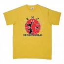 RMC JEANS Ghostmen Yellow Crew Neck Short Sleeved T Shirt