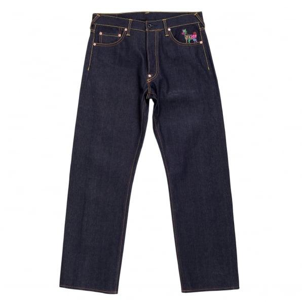 RMC JEANS GOD OF GOLDEN BROTHER Dark Indigo Vintage Cut Raw Selvedge Denim Jeans