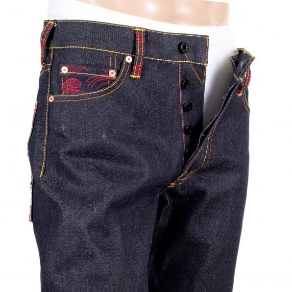 RMC JEANS Golden Monkey Vintage Cut Raw Selvedge Denim Jeans for Men