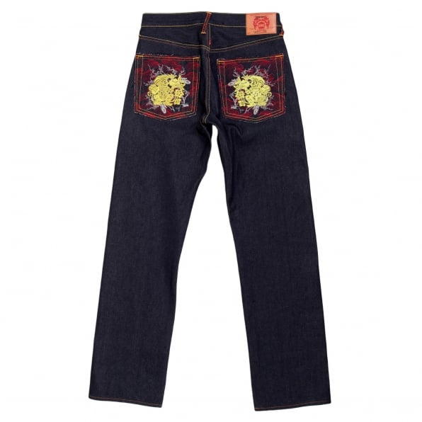 RMC JEANS Golden Monkey Vintage Cut Raw Selvedge Denim Jeans for Men