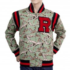 Green Leaf Camo Baseball Blazer Jacket