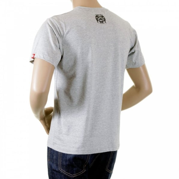 RMC JEANS Grey marl crew neck short sleeve regular fit t-shirt