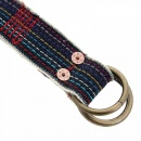 RMC JEANS Handmade embroidered rainbow combo denim belt