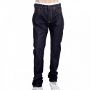 RMC JEANS Indigo Raw Japanese Selvedge Denim Jeans with Silver Bushi Embroidery