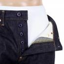 RMC JEANS Indigo Raw Selvedge Silver Embroidery FM Union Slim Fit Denim Jeans