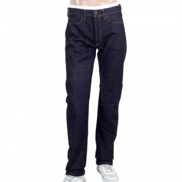 RMC JEANS Japanese Selvedge Indigo Raw Slim Fit ORJ Machine Denim Jeans