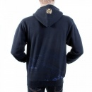 RMC JEANS Large Fitting Zipped Front Hooded Navy Sweatshirt for Men