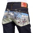 RMC JEANS Mens 100% Cotton Dark Indigo Raw Selvedge Denim Jeans