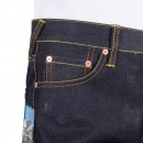 RMC JEANS Mens 100% Cotton Dark Indigo Raw Selvedge Denim Jeans