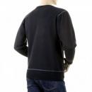 RMC JEANS Mens Black Crew Neck Large Fitting Sweat Shirt