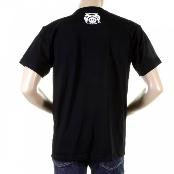 RMC JEANS Mens Black Crew Neck Regular Fit Short Sleeve T-Shirt