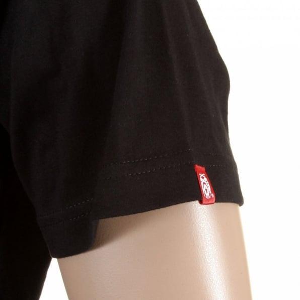RMC JEANS Mens Black Crew Neck Short Sleeve Regular Fit T-Shirt