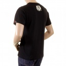 RMC JEANS Mens Black Crew Neck Short Sleeve Regular Fit T-shirt with Camel Cigarette Packet Print