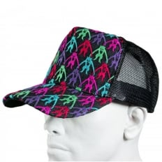 Mens black mesh with 5 colour combo embroidered cap