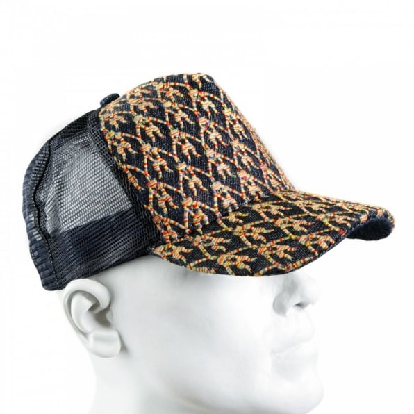 RMC JEANS Mens black mesh with rainbow embroidered cap