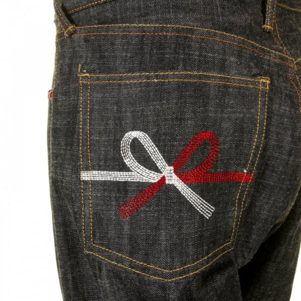 RMC JEANS Mens Black Selvedge Raw Denim Jeans with Super Exclusive Design