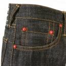 RMC JEANS Mens Black Selvedge Raw Denim Jeans with Super Exclusive Design