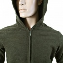 RMC JEANS Mens Bottle Green Wool Mix Regular Fit Zipped Front Hoody Jacket