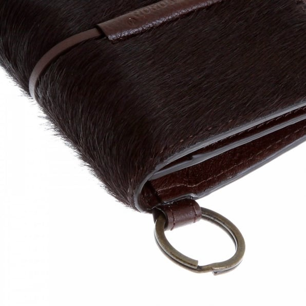 RMC JEANS Mens Brown Leather/Horse Hair Pouch with Shoe Lace Tie Closure