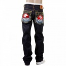RMC JEANS Mens Cotton Dark Indigo Raw Denim Jeans with Slimmer Cut