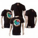RMC JEANS Mens Crew Neck Regular Fit Short Sleeve T-shirt in Black