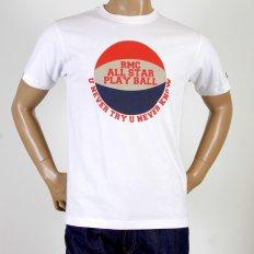 Mens Crew Neck Regular Fit Short Sleeve T-Shirt in White