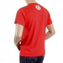 RMC JEANS Mens Crew Neck Short sleeve Regular Fit T-shirt in Red with Smoking Skull