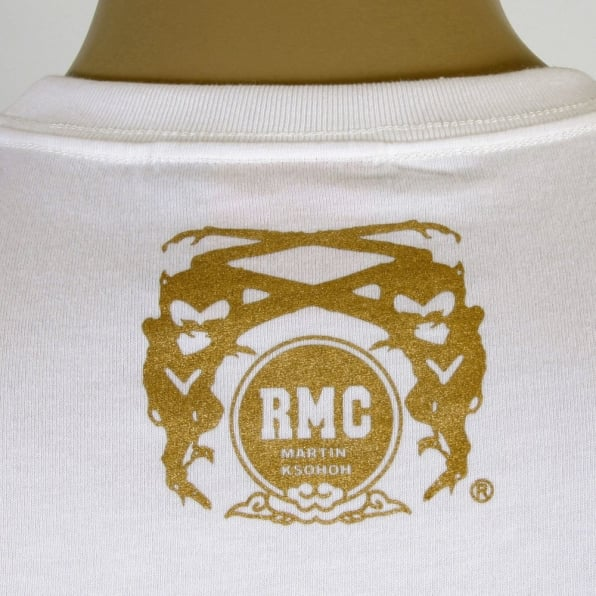 RMC JEANS Mens Crew Neck Short Sleeve Regular Fit T-Shirt in White