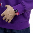 RMC JEANS Mens Custom Made Large Fitting Cotton Purple Sweatshirt with Crew Neck