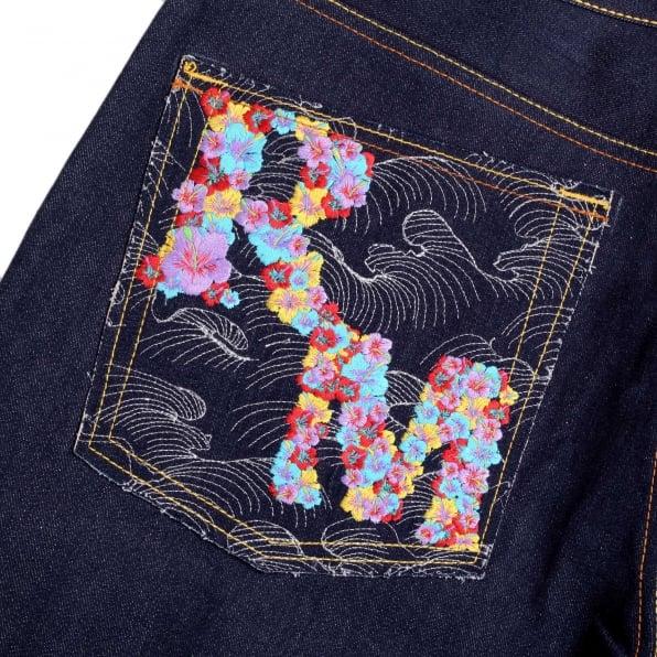 RMC JEANS Mens Dark Indigo Oroginal Cut Zero Haliburton Selvedge Denim Jeans