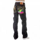 RMC JEANS Mens Dark Indigo Raw Denim Crane Go Home Jeans