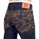 RMC JEANS Mens Dark Indigo Vintage Cut Raw Denim Jeans