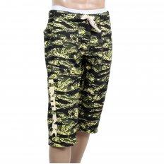 Mens Green Camo Pattern Cotton Jersey Short