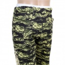 RMC JEANS Mens Green Camo Pattern Cotton Jersey Short