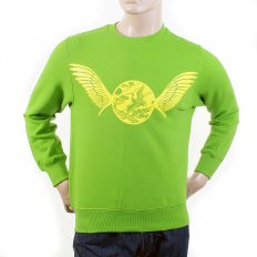 Mens Lime Green Crew Neck Large Fitting Sweat Shirt
