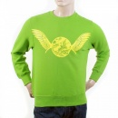 RMC JEANS Mens Lime Green Crew Neck Large Fitting Sweat Shirt