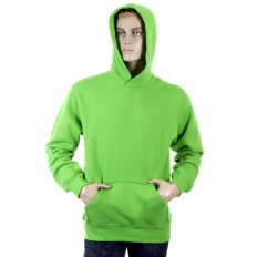 Mens Lime Green Overhead Large Fitting Sweat Shirt
