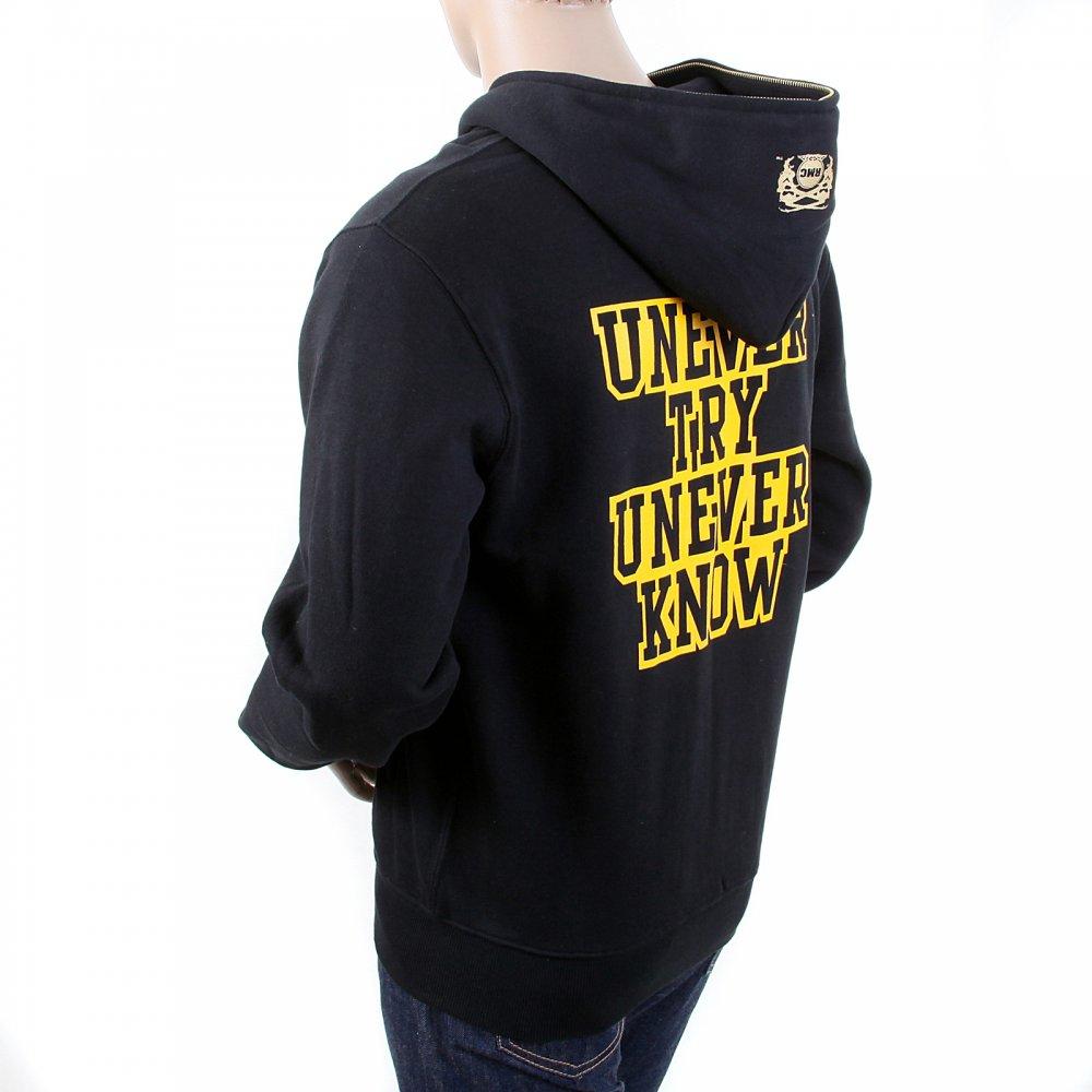 Hooded Zipped Sweatshirt In Black Stone Island