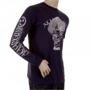 RMC JEANS Mens Navy crew neck long sleeve regular fit t-shirt