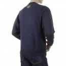 RMC JEANS Mens Navy Large Fitting Sweat Shirt