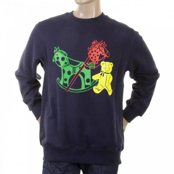RMC JEANS Mens Navy Overhead Large Fitting Sweatshirt