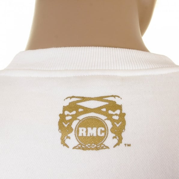 RMC JEANS Mens off White Crew Neck Large Fitting Sweat Shirt