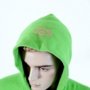 RMC JEANS Mens Overhead Large Fitting Hooded Sweatshirt in Lime Green