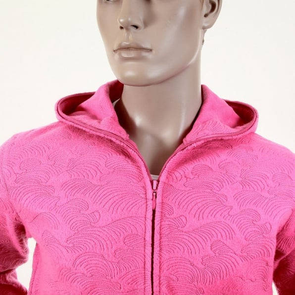 RMC JEANS Mens Pink Large Fitting Zipped Hooded Sweatshirt