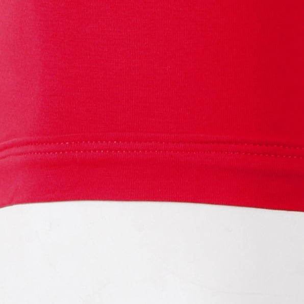 RMC JEANS Mens Red Stretch Cotton Trunks with Signature Logo