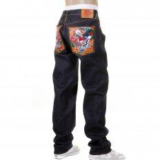 Mens Selvedge Dark Indigo Raw Denim Jeans