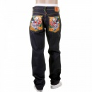 RMC JEANS Mens Selvedge Dark Indigo Raw Denim Jeans