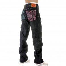Mens Selvedge Vintage Cut Dark Indigo Raw Denim Jeans