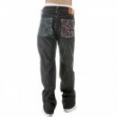 RMC JEANS Mens Selvedge Vintage Cut Dark Indigo Raw Denim Jeans